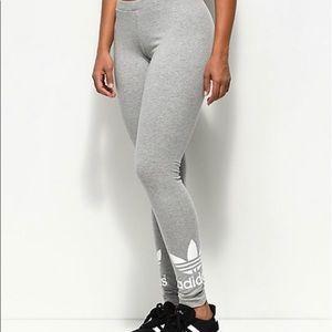 Adidas Trefoil Leggings XL- Heather Grey